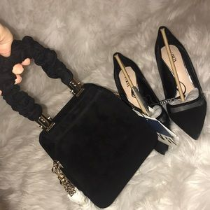 Zara clutch and shoes